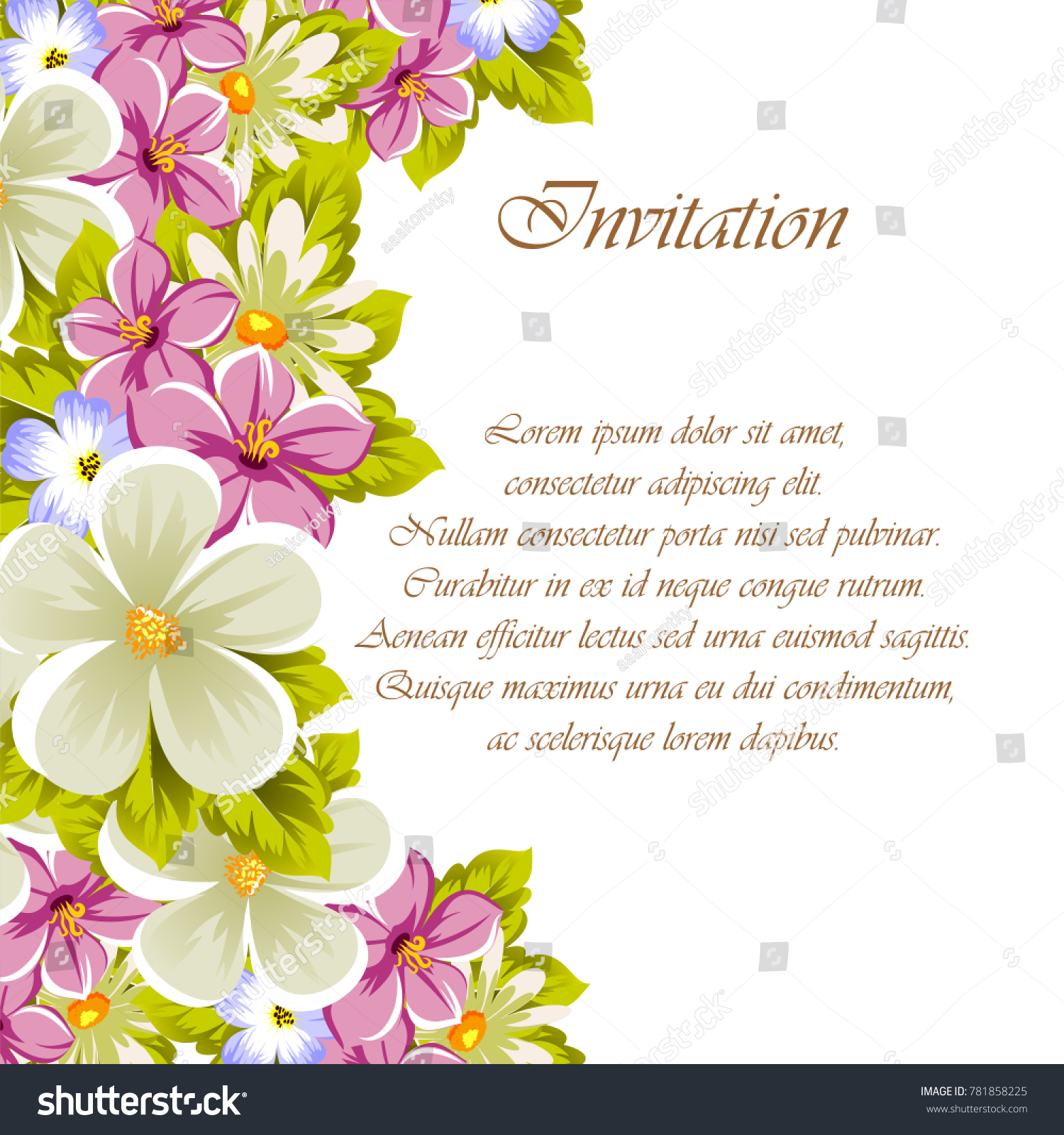 Congratulatory frame flowers design textures postcards stock vector congratulatory frame of flowers for design textures postcards greeting cards for birthday izmirmasajfo