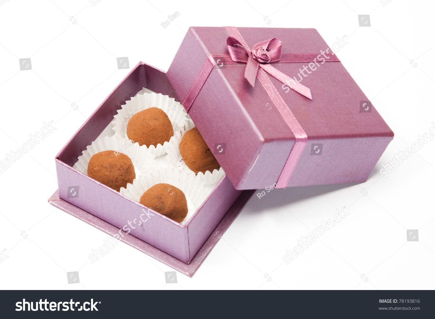 Chocolate Truffles Little Box Stock Photo (Edit Now) 78193816 ...