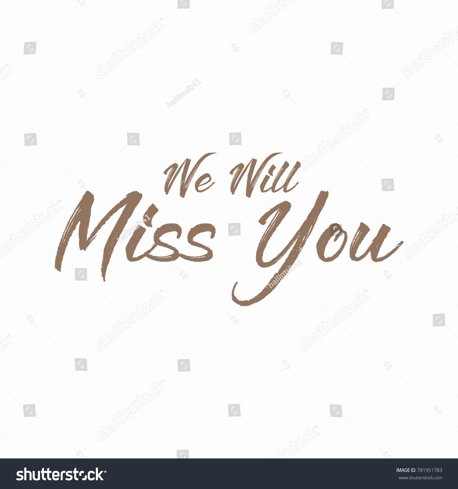Farewell Party We Will Miss You Stock Vector 781951783 - Shutterstock