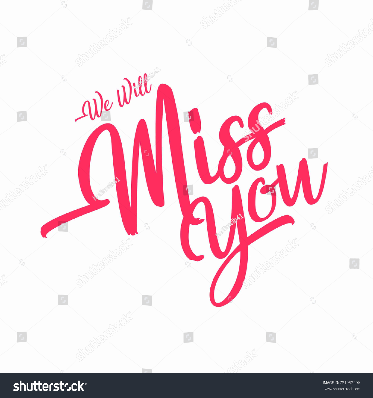 Farewell Party We Will Miss You Stock Vector (2018) 781952296 ...
