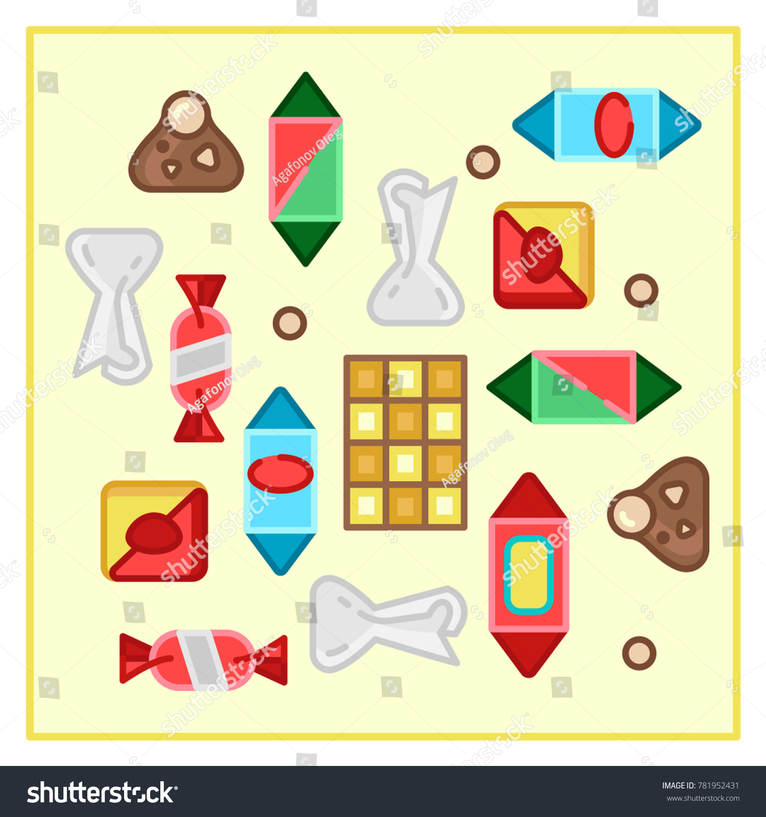 Sweets Candy Category Icon Vector Line Stock Vector Royalty Free