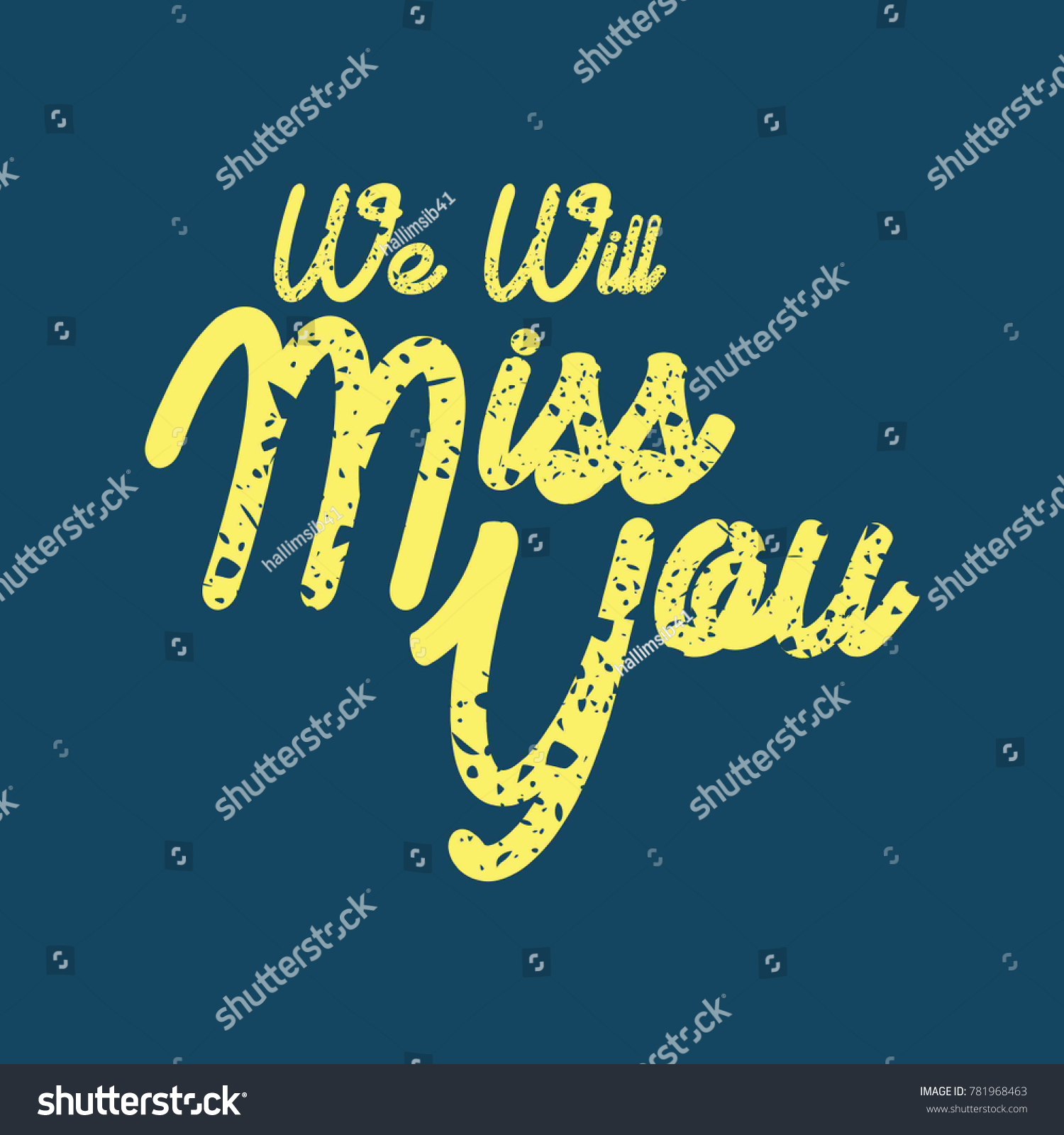 Farewell party card we will miss stock vector 781968463 shutterstock kristyandbryce Image collections
