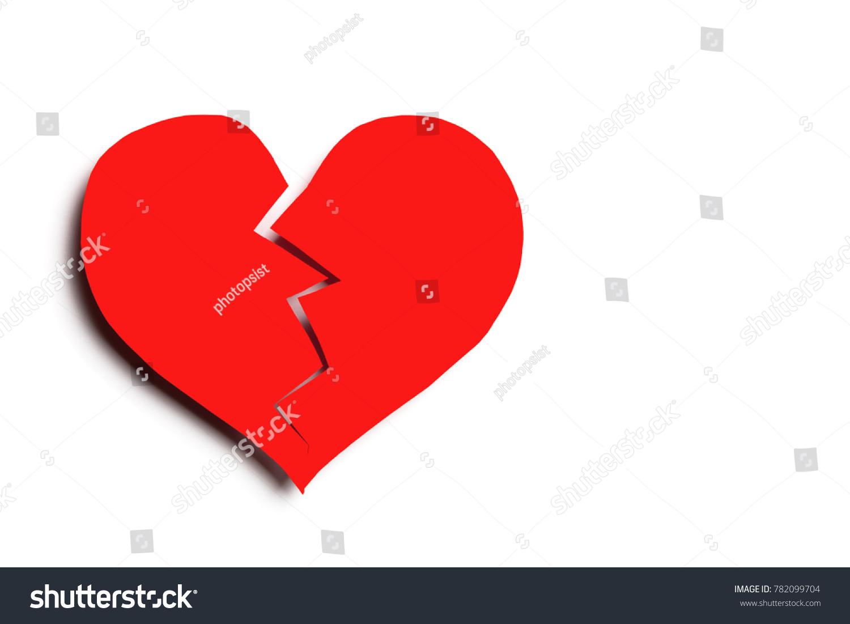 Broken Heart Symbol On White Isolated Stock Photo Edit Now