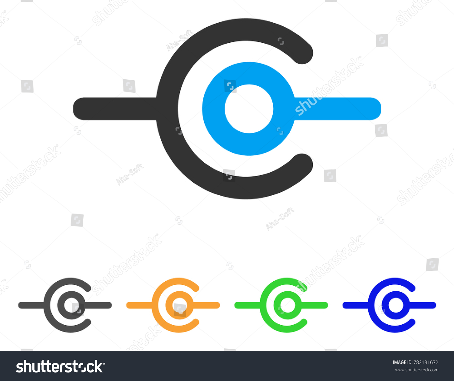 Wire Connection Icon Vector Illustration Style Stock Vector ...