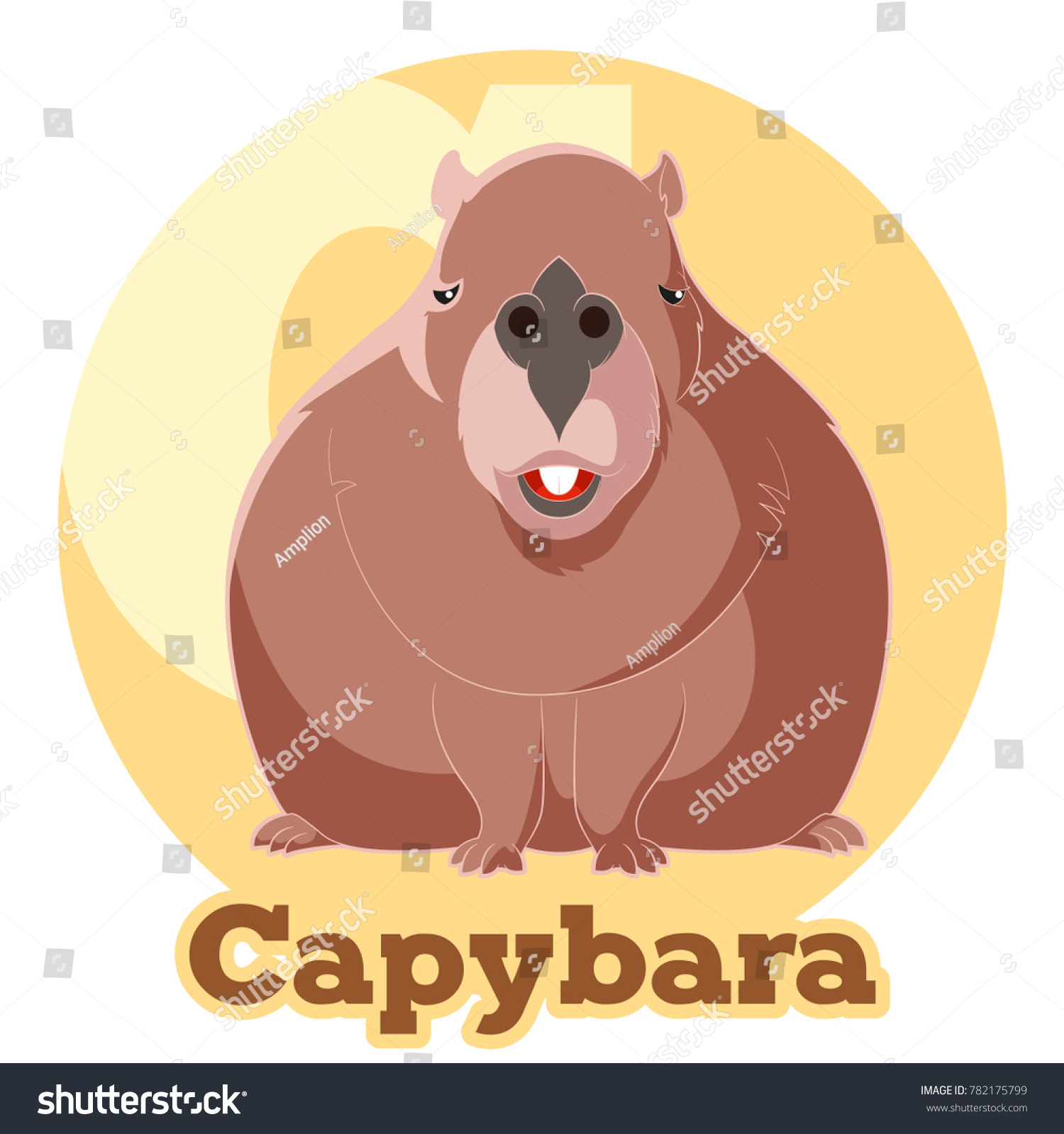 ABC Cartoon Capybara Ilustración de stock782175799: Shutterstock