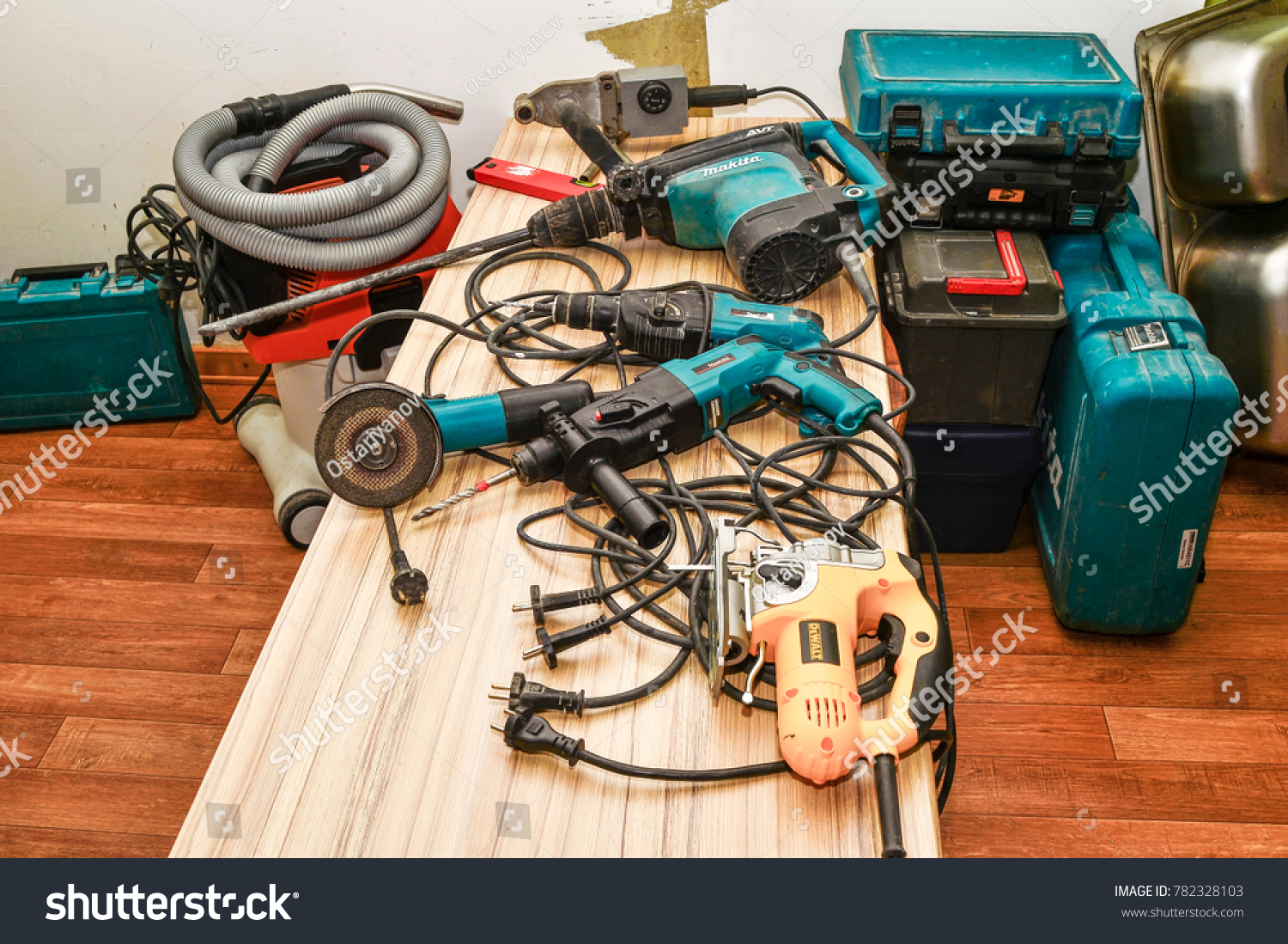 Range Power Tools Brands Makita Dewalt Stock Photo Edit Now House Wiring The Of In To Prepare For