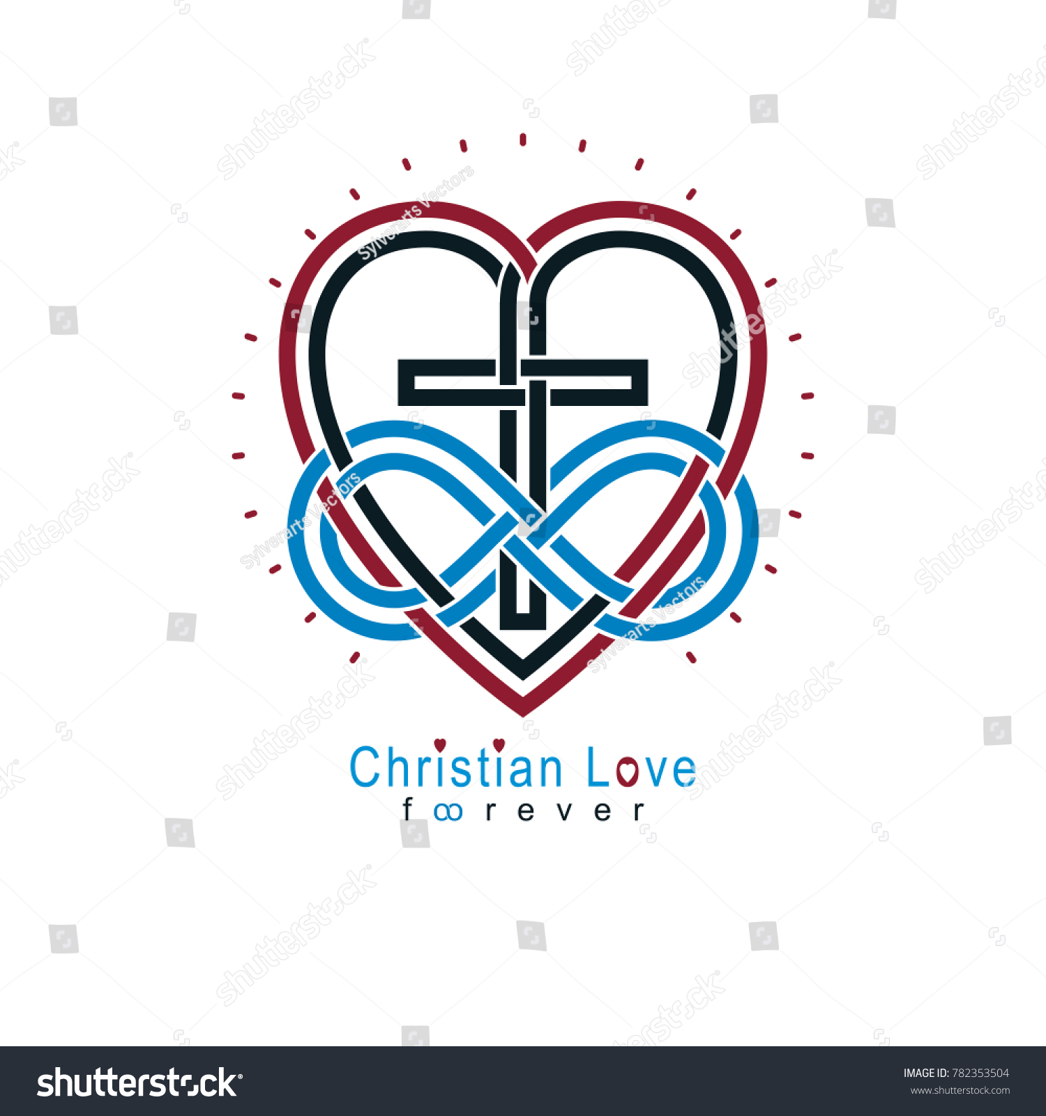 Everlasting christian love true belief god stock illustration everlasting christian love and true belief in god creative symbol design combined with infinity endless biocorpaavc Choice Image