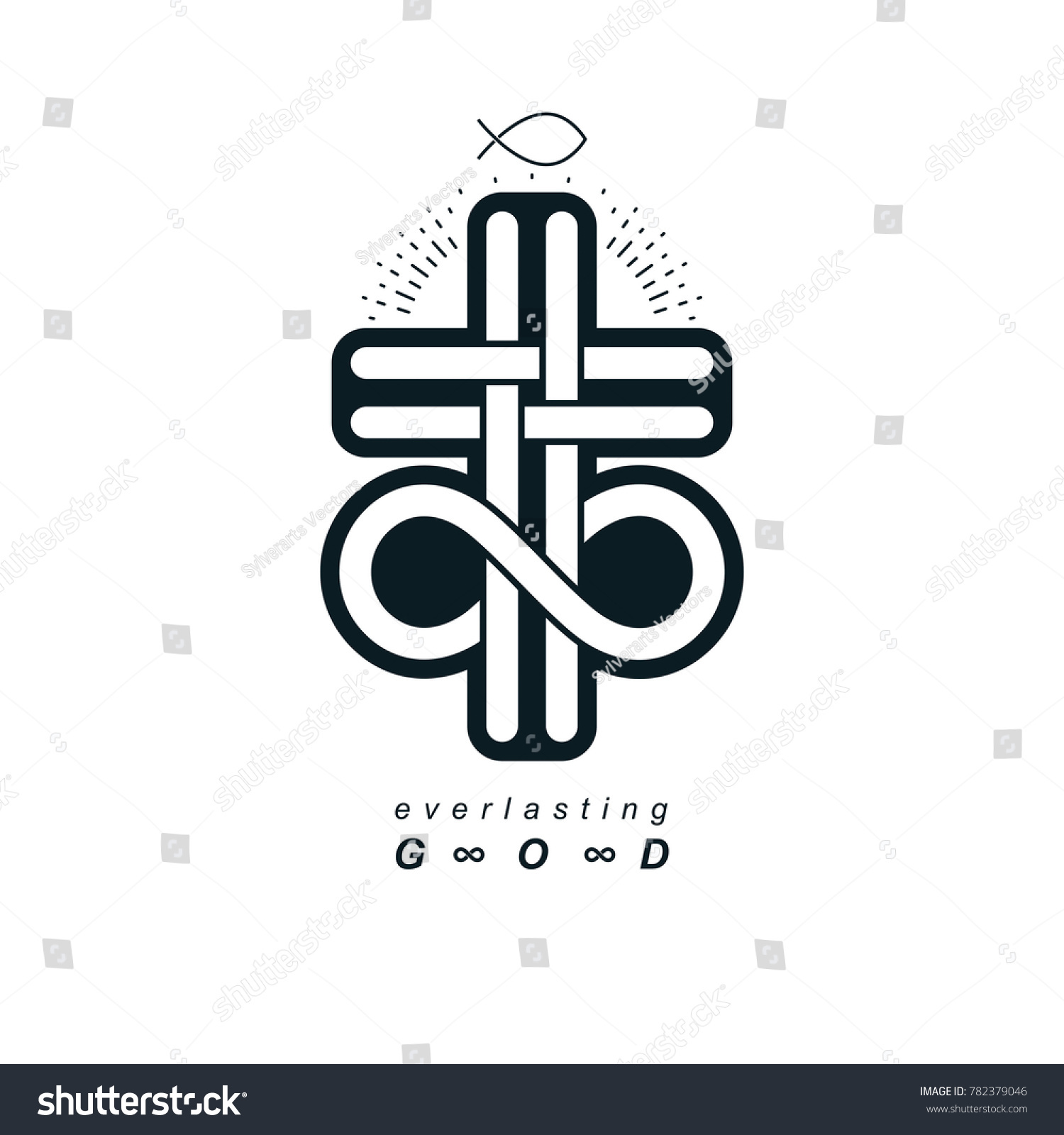 Everlasting christian belief god vector creative stock everlasting christian belief in god vector creative symbol design combined with infinity endless loop and biocorpaavc