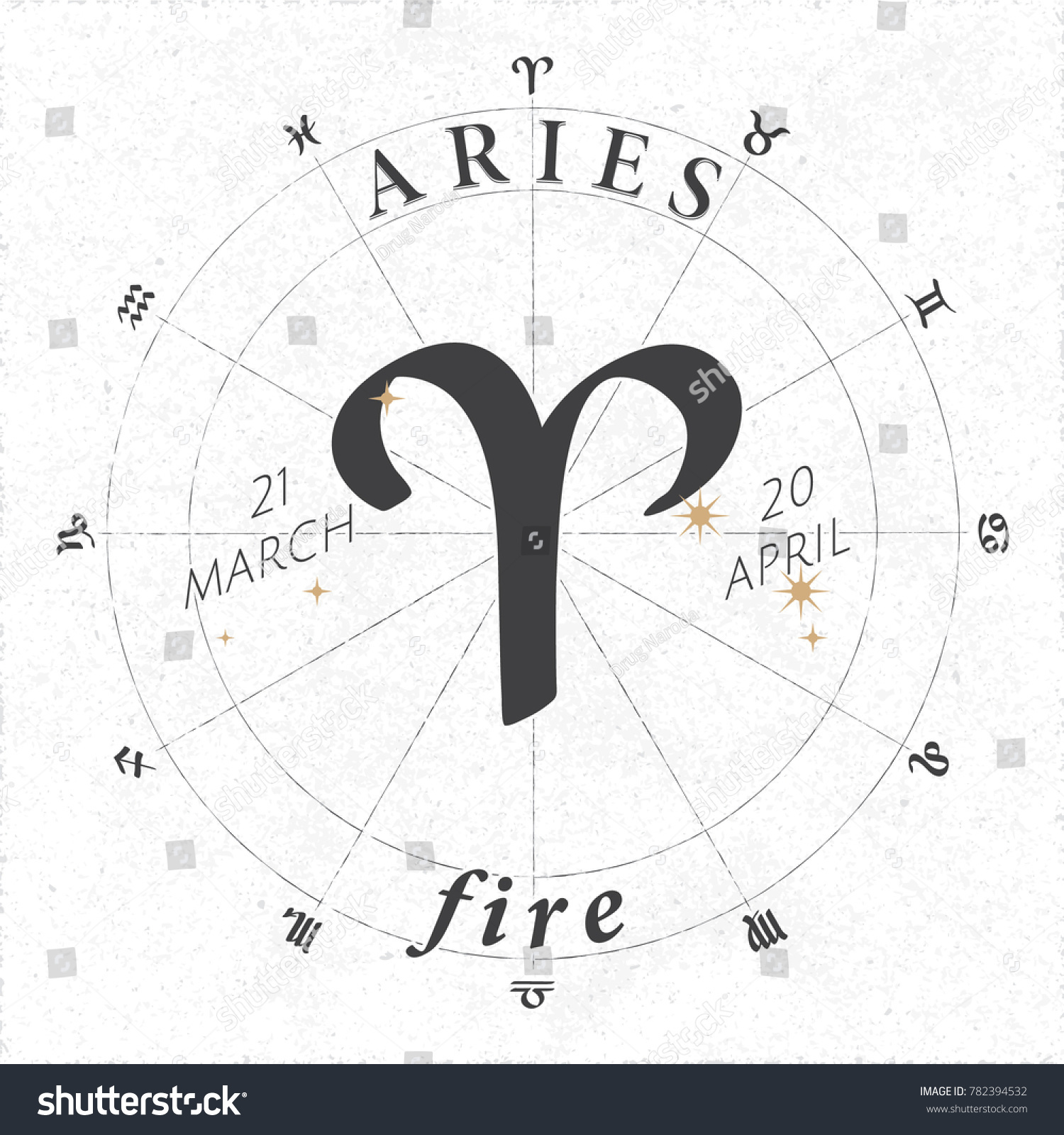 Zodiac sign aries logo fire lettering stock vector 782394532 zodiac sign aries logo and fire lettering with aries constellation stars and dates in zodiac circle buycottarizona