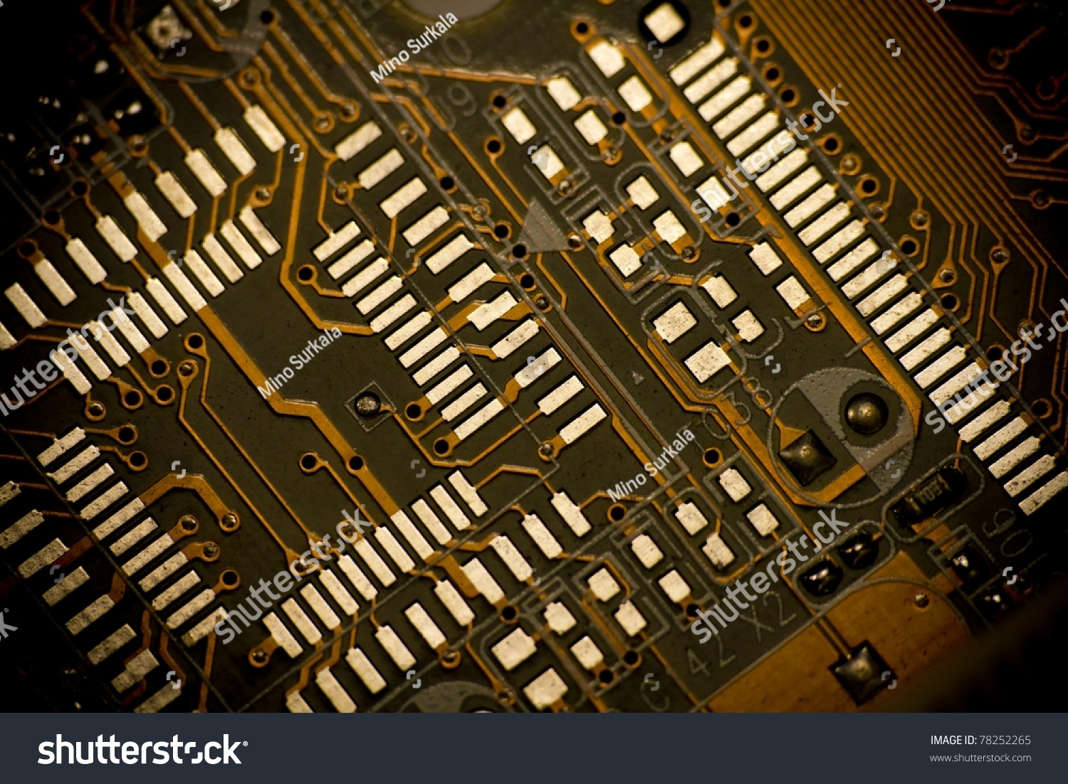 Vignetted Detail Printed Circuit Board Old Stock Photo Edit Now Photos Images Pictures Shutterstock Of Motherboard