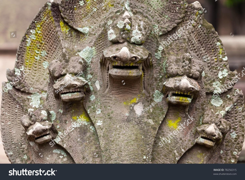 Detail Five Headed Snake Statue Prasat Stock Photo ... - photo#12