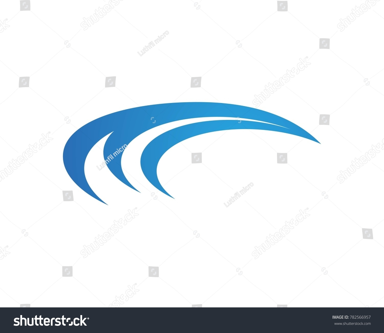 wave logos template vector ez canvas
