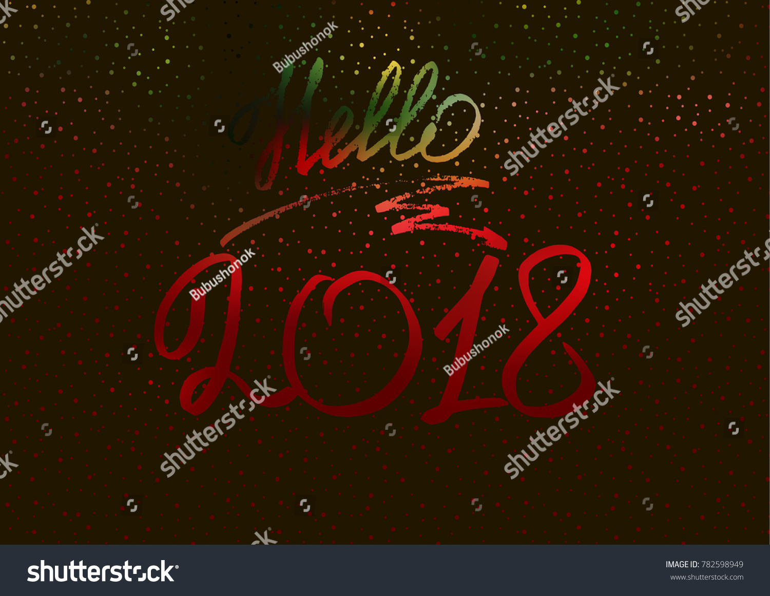 Hello 2018 new year 2018 new stock vector 782598949 shutterstock new years greeting card cover banner kristyandbryce Gallery