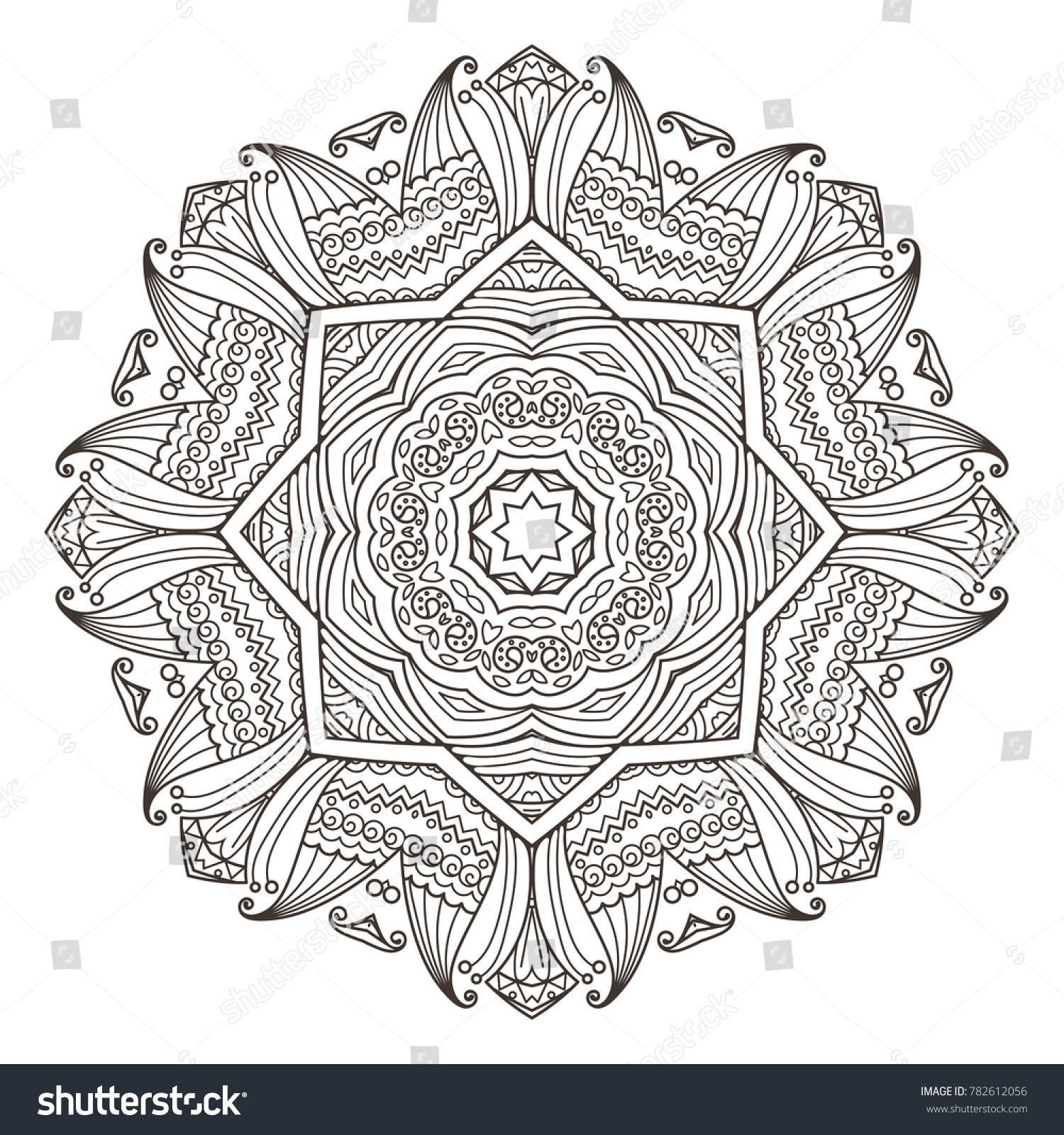 stock vector mandala abstract decorative background islam arabic oriental indian ottoman yoga motifs
