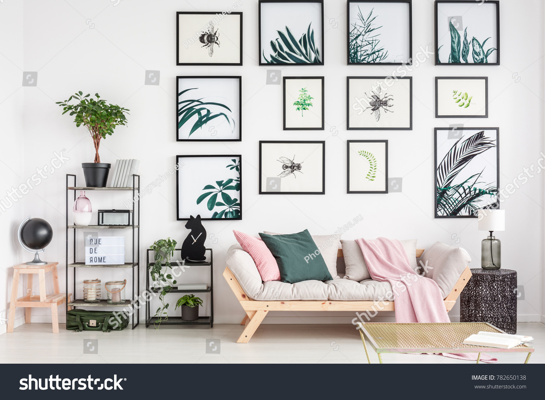 Cozy Sofa Elegant Living Room Interior Stock Photo (Edit Now ...
