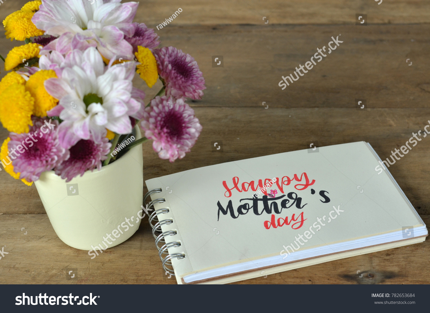 Happy mothers day card greeting words stock photo 782653684 happy mothers day card with greeting words for mom red heart gift box and kristyandbryce Choice Image
