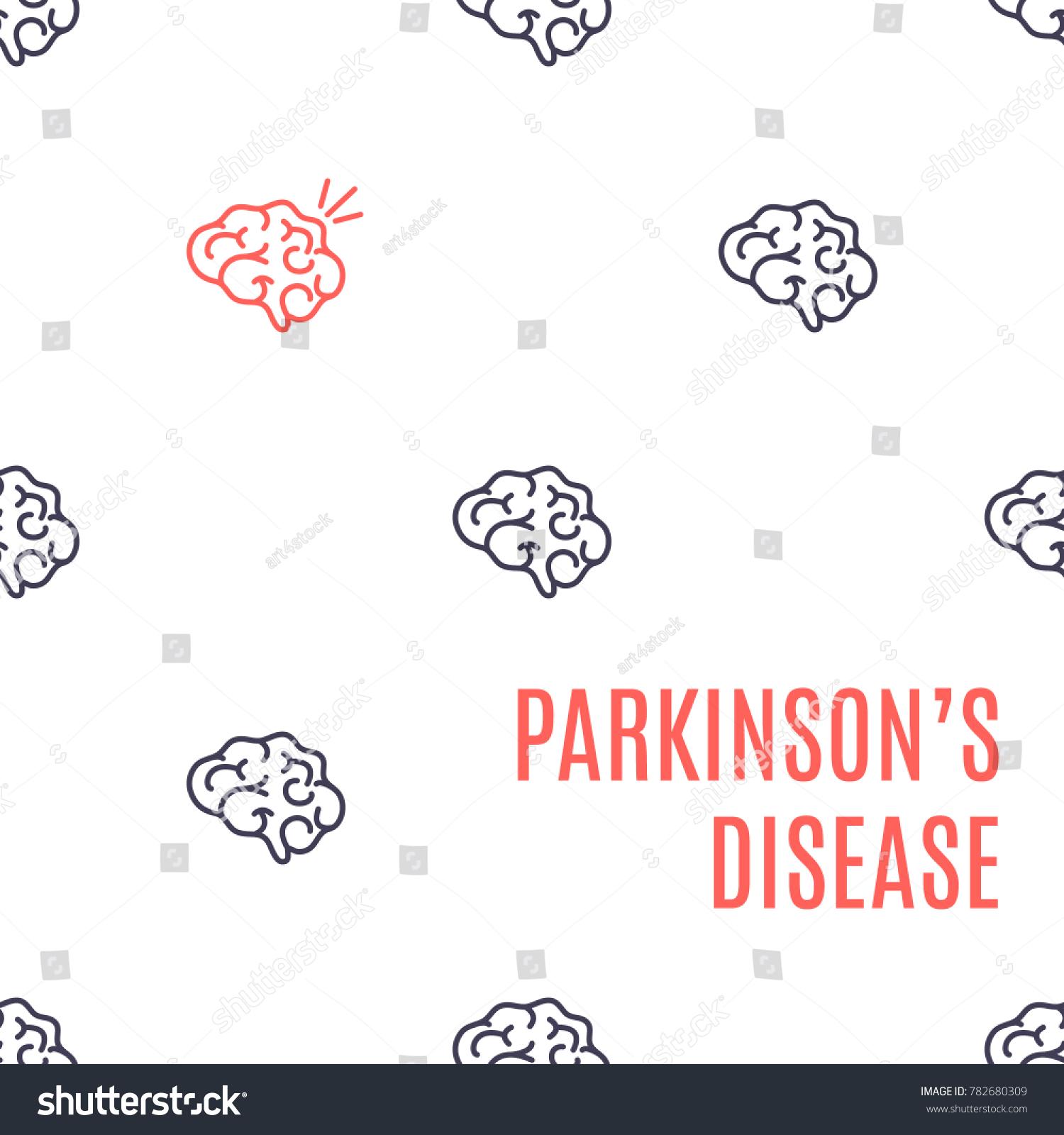 Parkinsons Disease Poster Pattern Healthy Brain Stock Vector ...