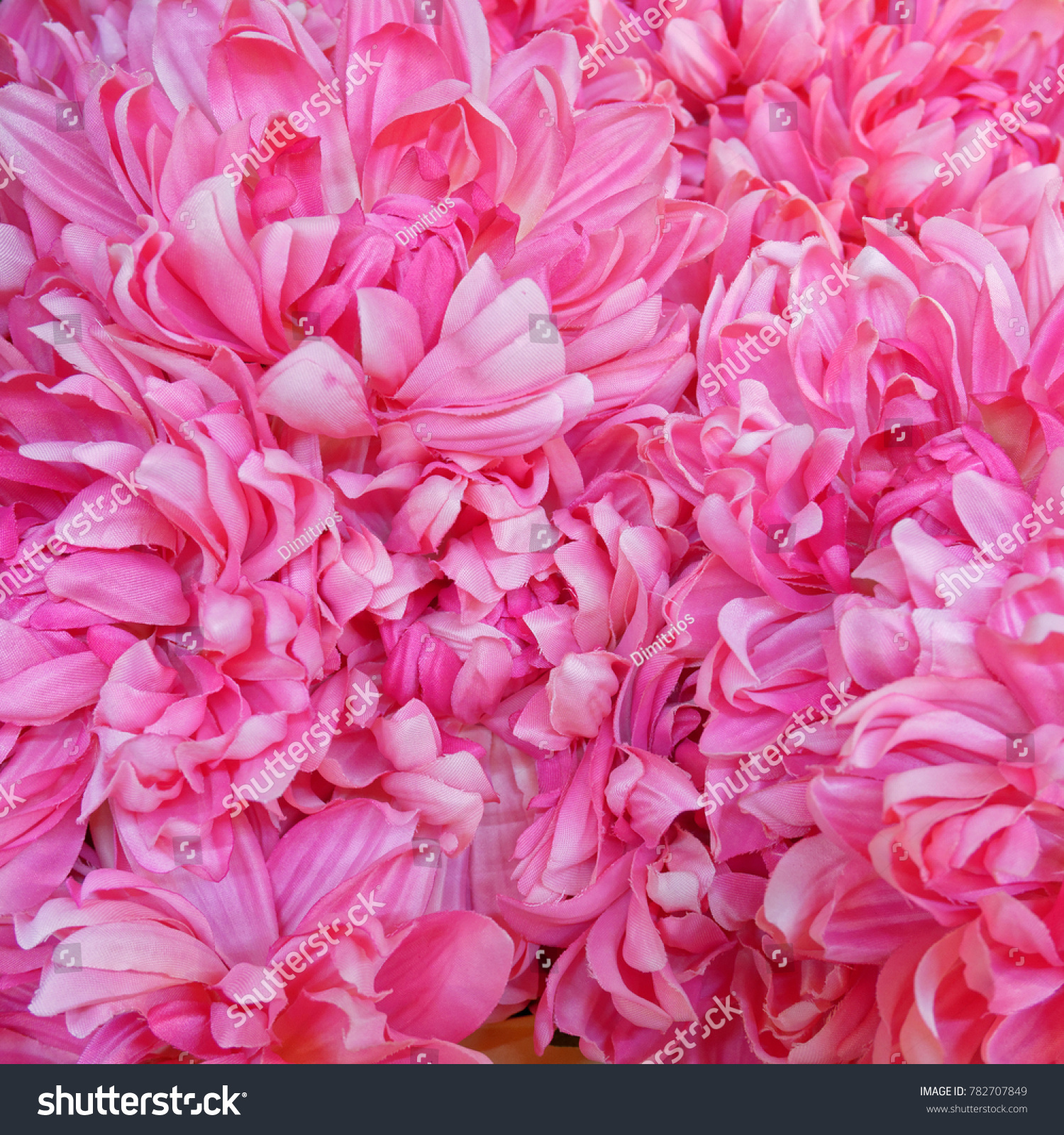 Vibrant Violet Pink Fake Flowers Background Stock Photo 782707849