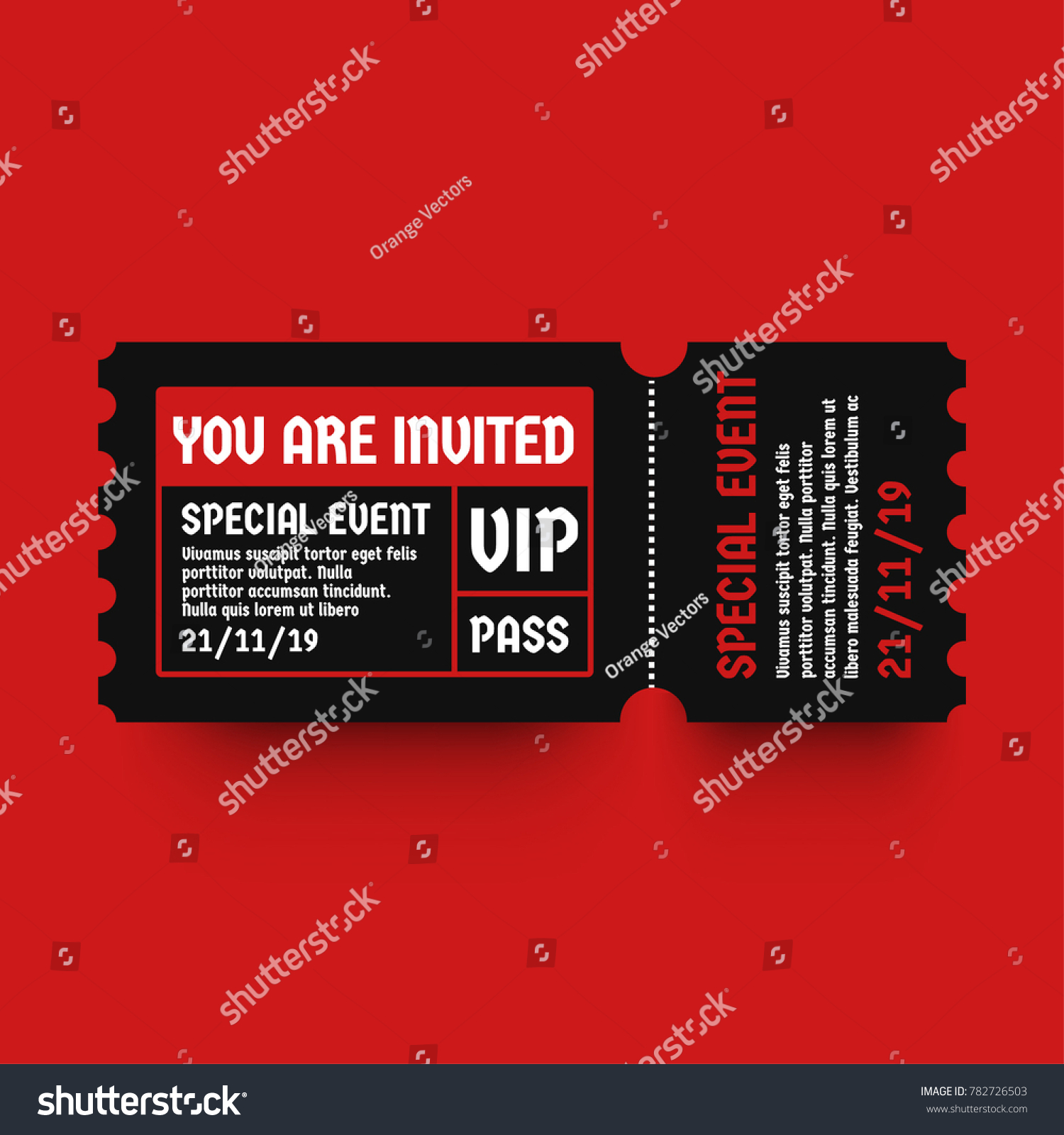 You Invited VIP Pass Party Entry Stock Vector (Royalty Free ...