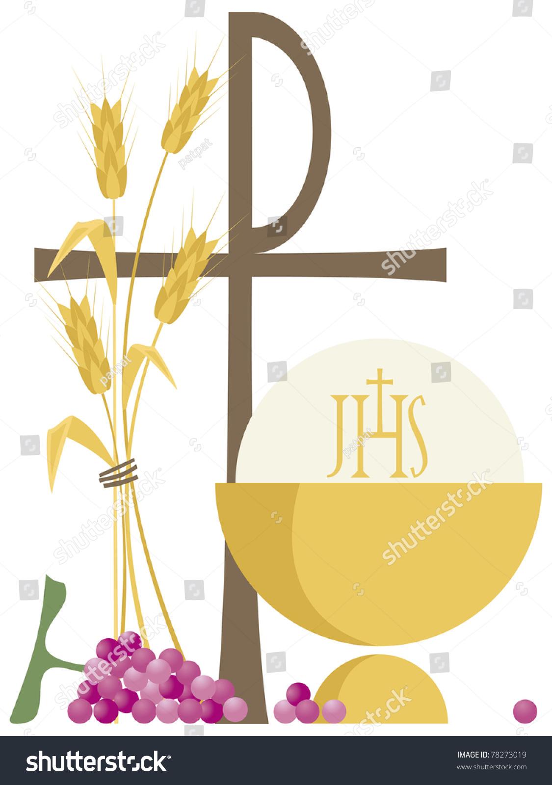 Symbols Christian Communion Stock Vector Royalty Free 78273019