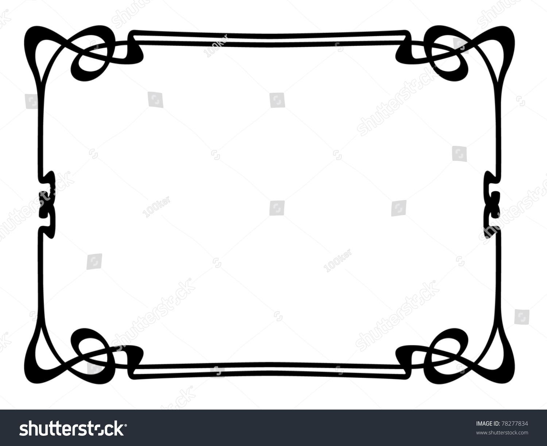 Art nouveau ornamental decorative frame stock vector for Art nouveau decoration ameublement