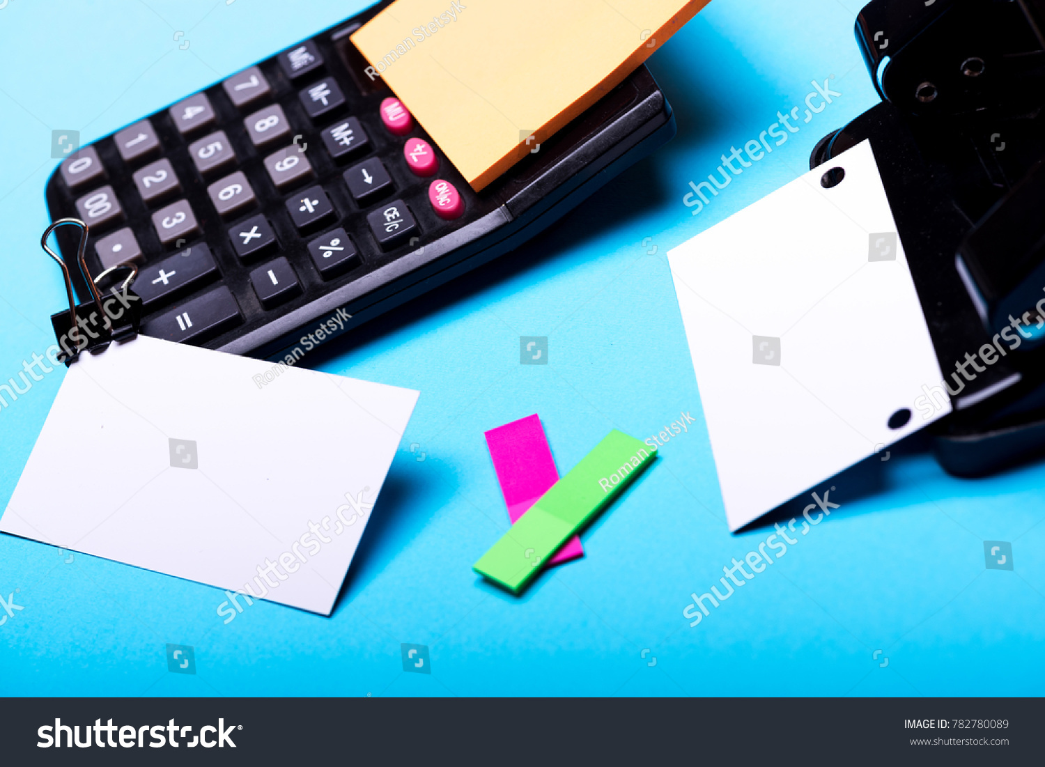 Business Card Empty Space Binder Near Stock Photo (100% Legal ...
