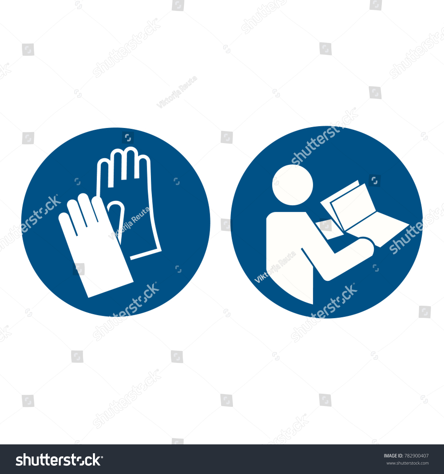 Raster illustration safety sign hand protection stock illustration raster illustration safety sign hand protection must be worn and refer to instruction manual booklet biocorpaavc