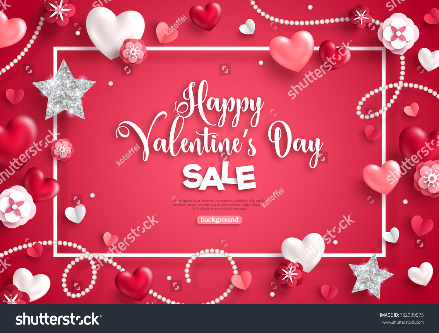 Happy Saint Valentines Day Sale Frame Stock Vector 782939575 ...
