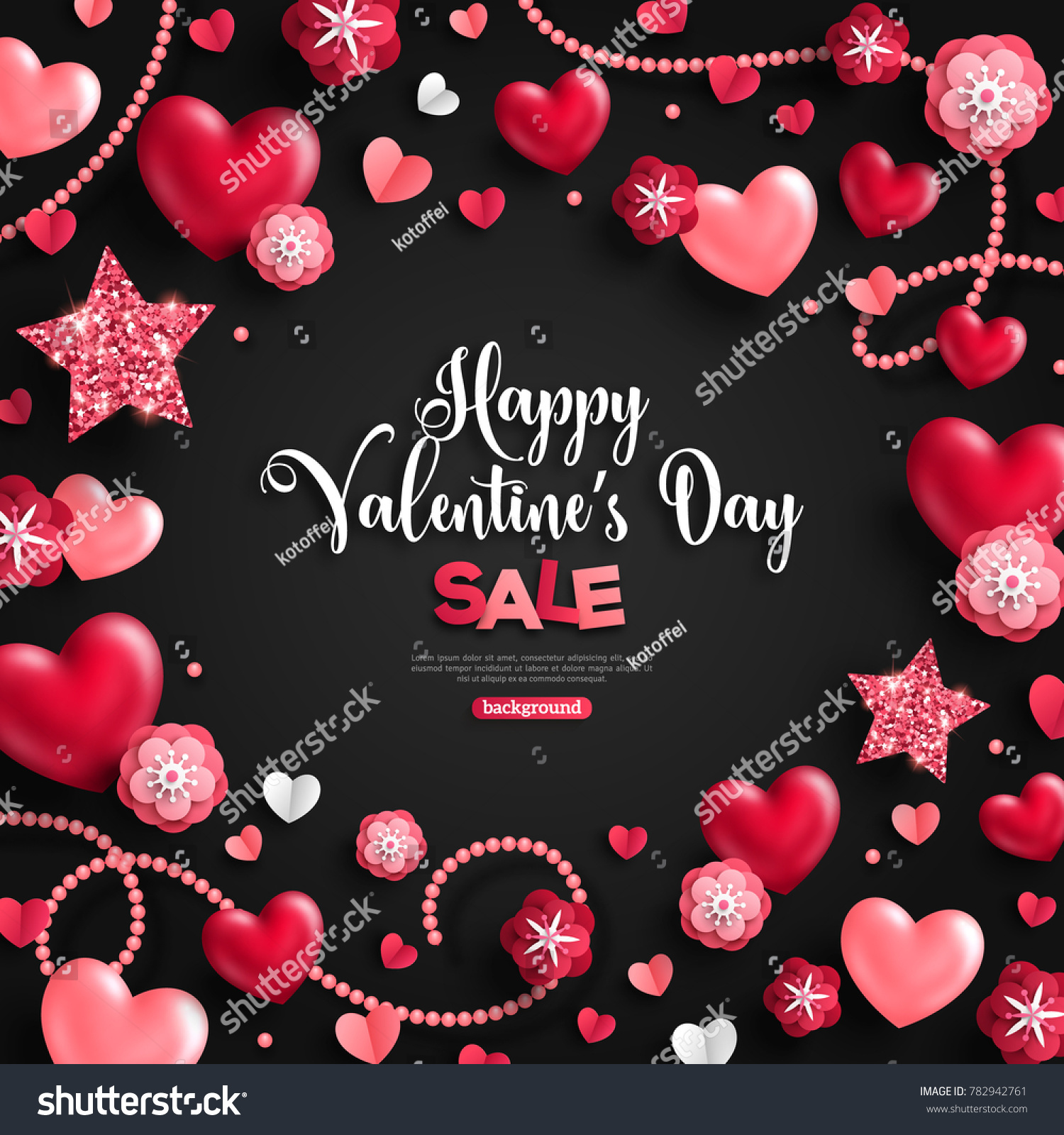 happy saint valentines day sale holiday stock vector 782942761, Ideas
