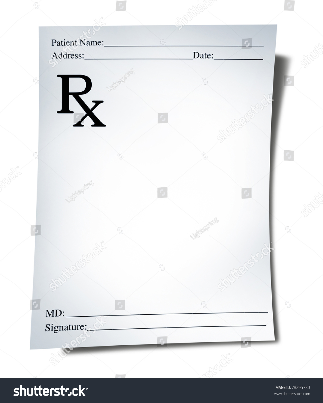 S note background image - Prescription Note Isolated On A White Background Representing A Doctor S Medicine Remedy Given To A Pharmacist
