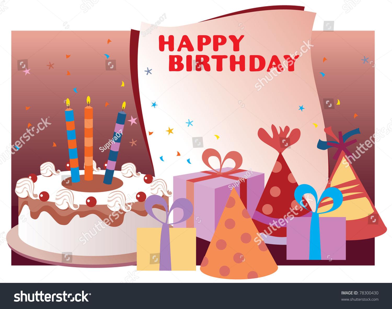 Happy Birthday Collage Stock Vector 78300430 - Shutterstock