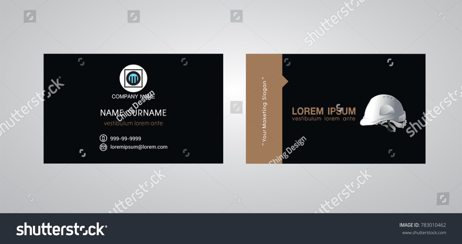 Business Card Template Engineer Name Card Stock Vector 783010462 ...