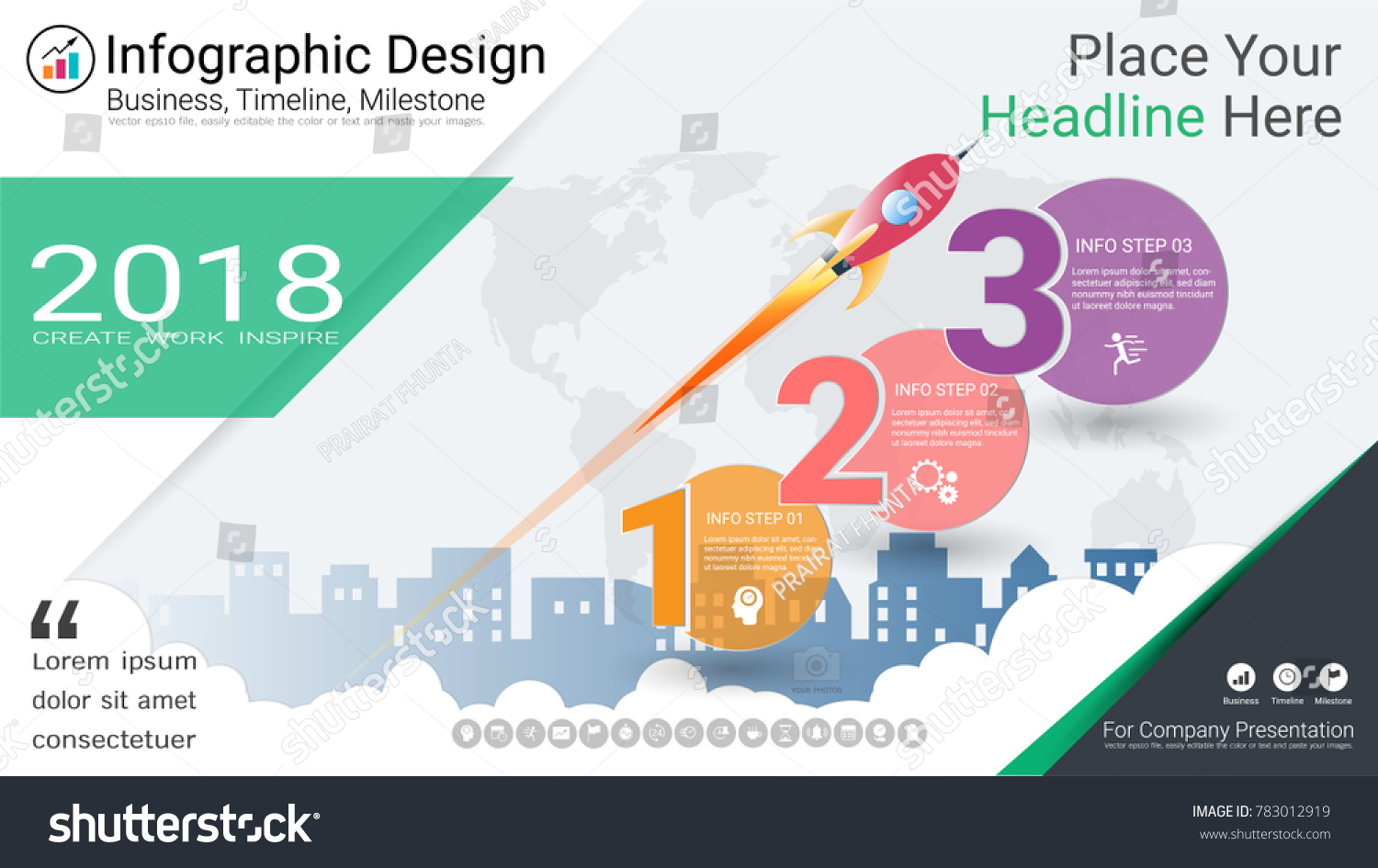 Business infographics template milestone timeline road stock business infographics template milestone timeline or road map with process flowchart 3 options strategic nvjuhfo Image collections