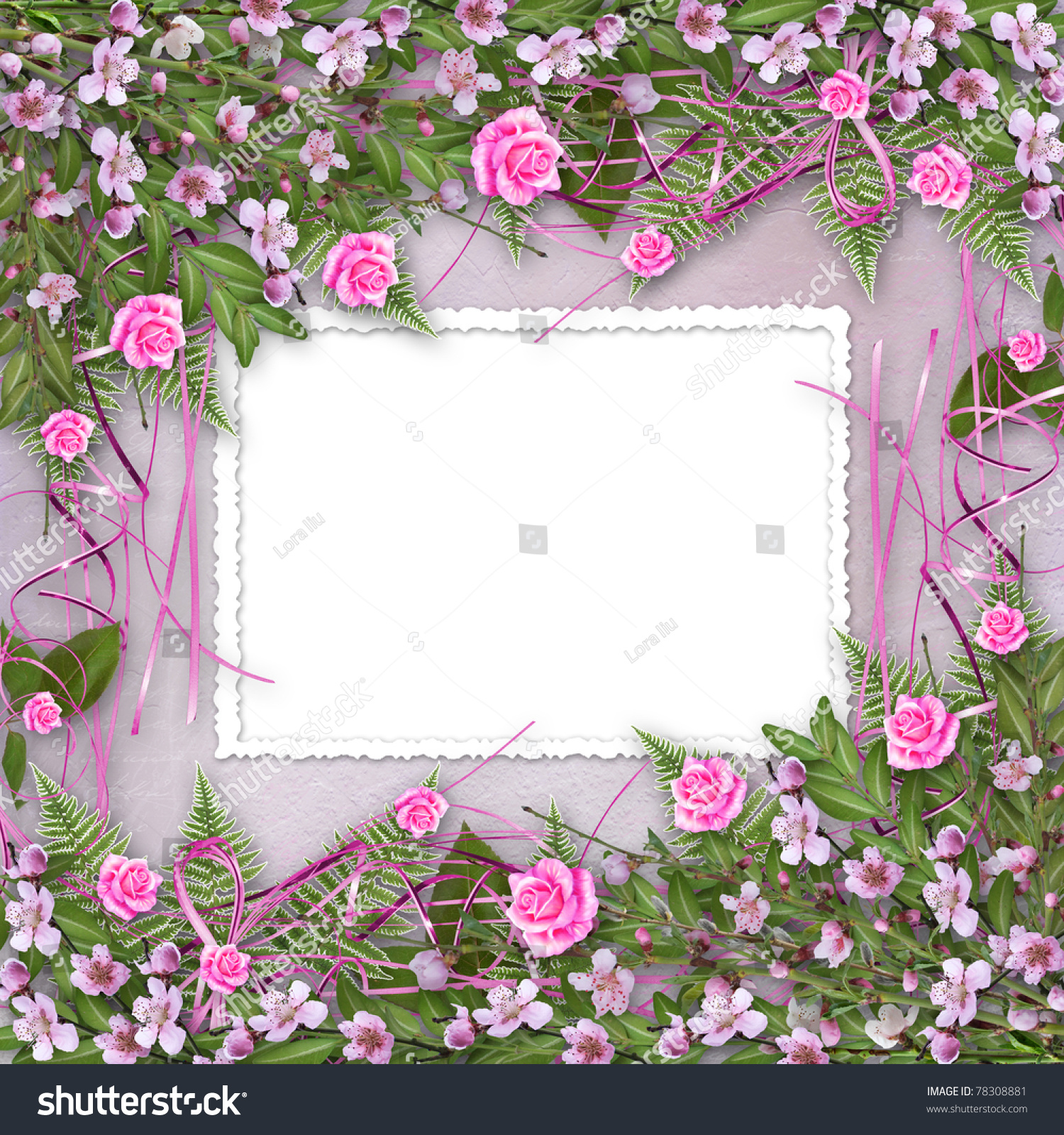 Writing Abstract Background Frame Floral Beautiful Stock ...