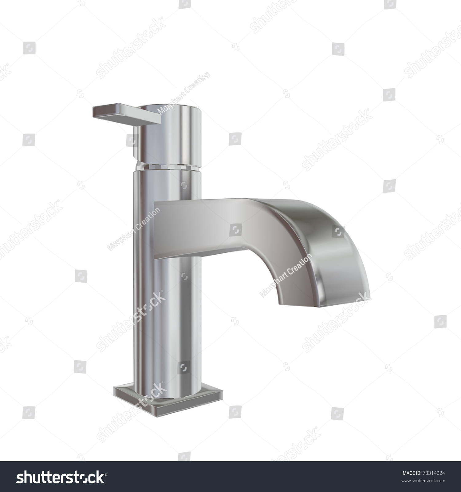 Modern Faucet Chrome Stainless Steel Finishing Stock Illustration ...