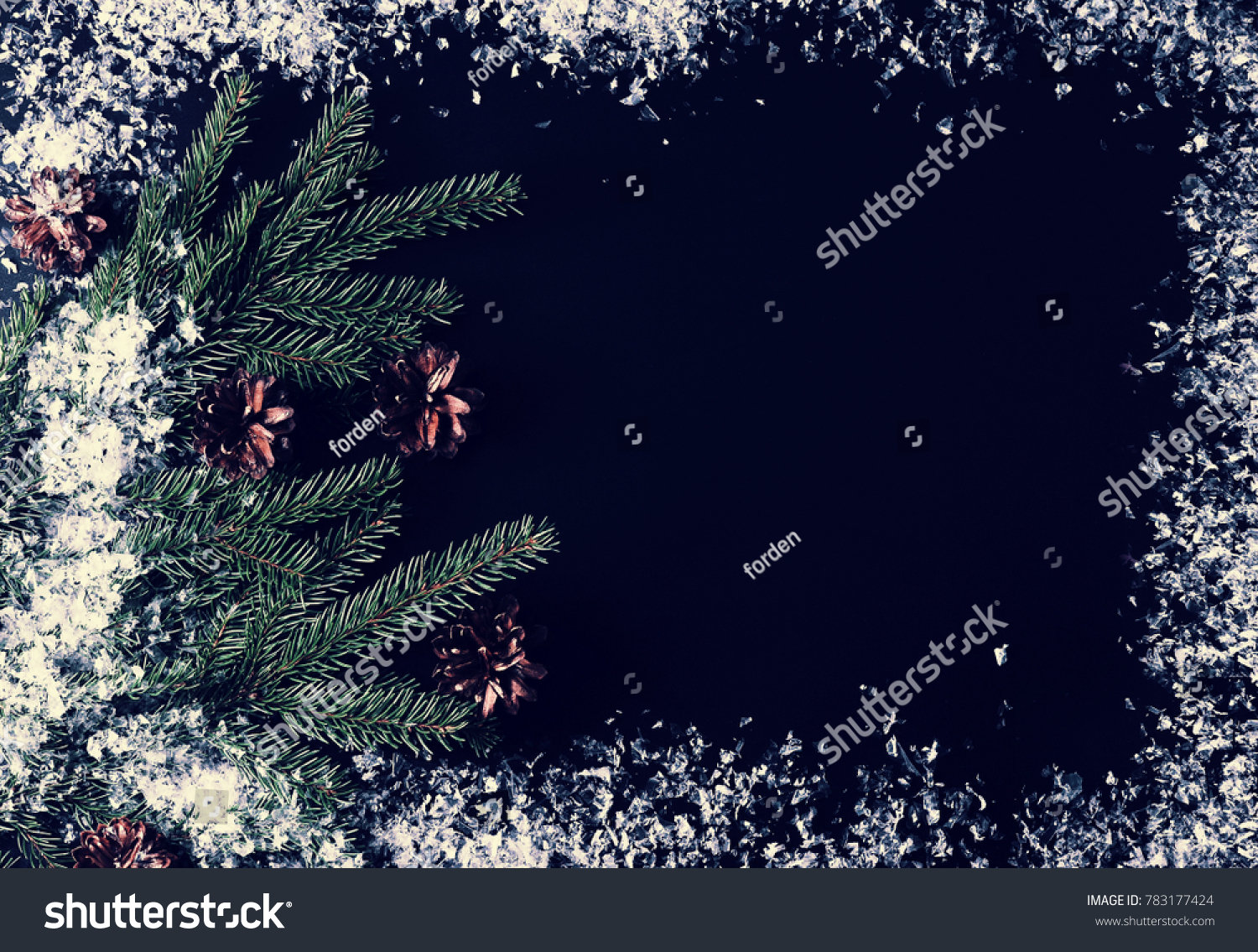 Background New Year Greetings Tree Branches Stock Photo Royalty