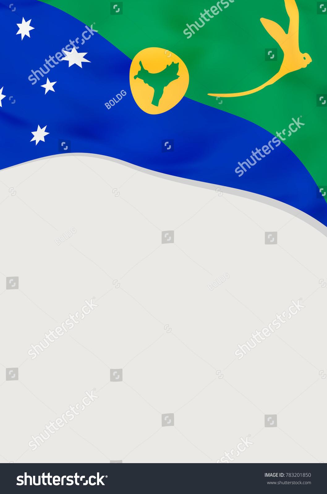 Leaflet Design Flag Christmas Island Vector Stock Vector 783201850 ...