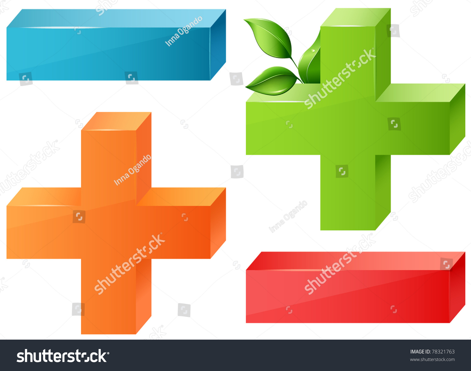 Glossy maths symbols plus minus blue stock vector 78321763 glossy maths symbols plus and minus blue orange red and ecological green buycottarizona