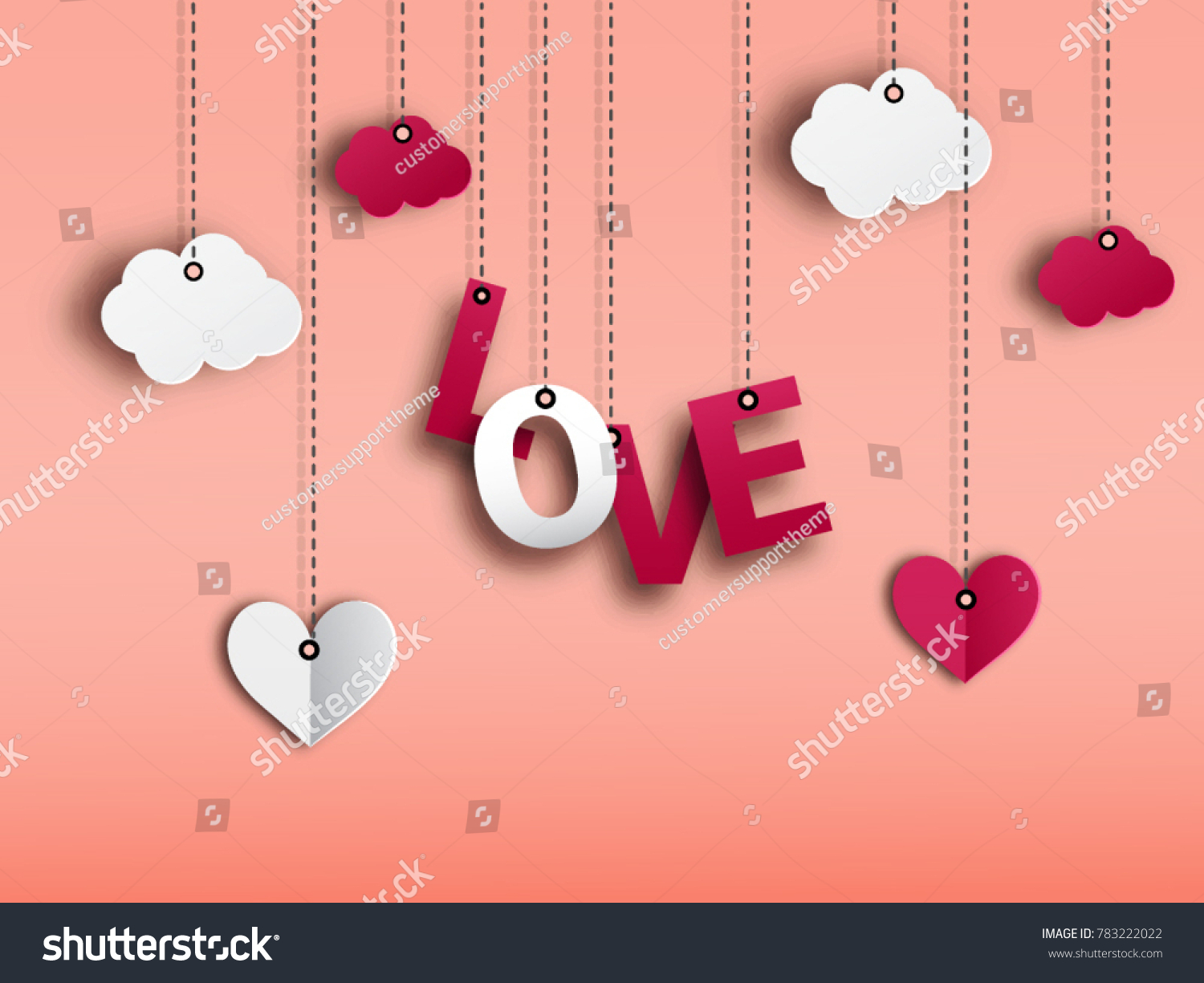 Valentines background concept red color love stock vector valentines background concept in red color with love greetings card in paper cut red heart with kristyandbryce Image collections