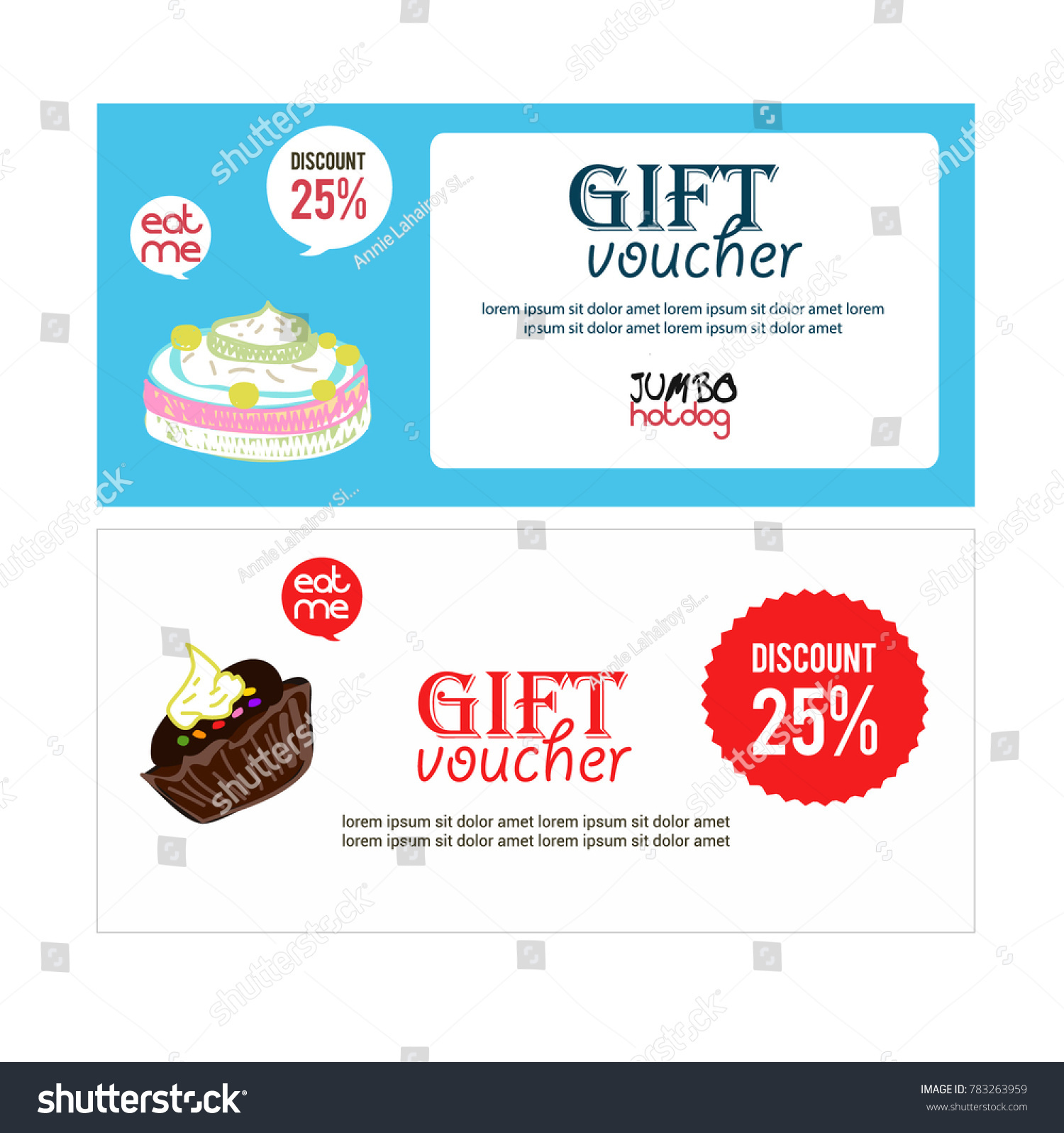 Voucher Gift Bannerposter Coupon Gift Cardposter Stock Vector