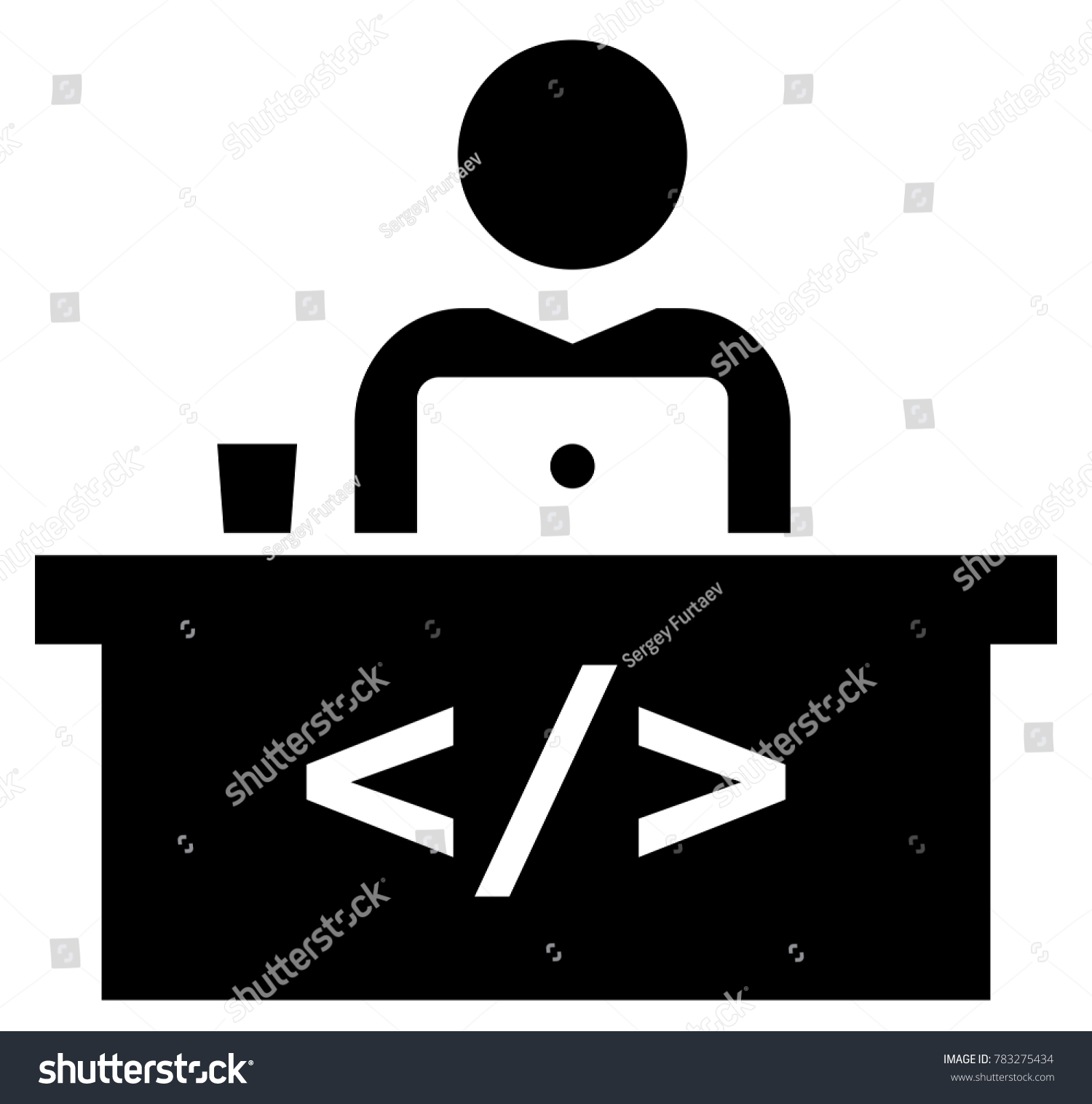 Software developer workspace icon stock vector 783275434 software developer workspace icon biocorpaavc