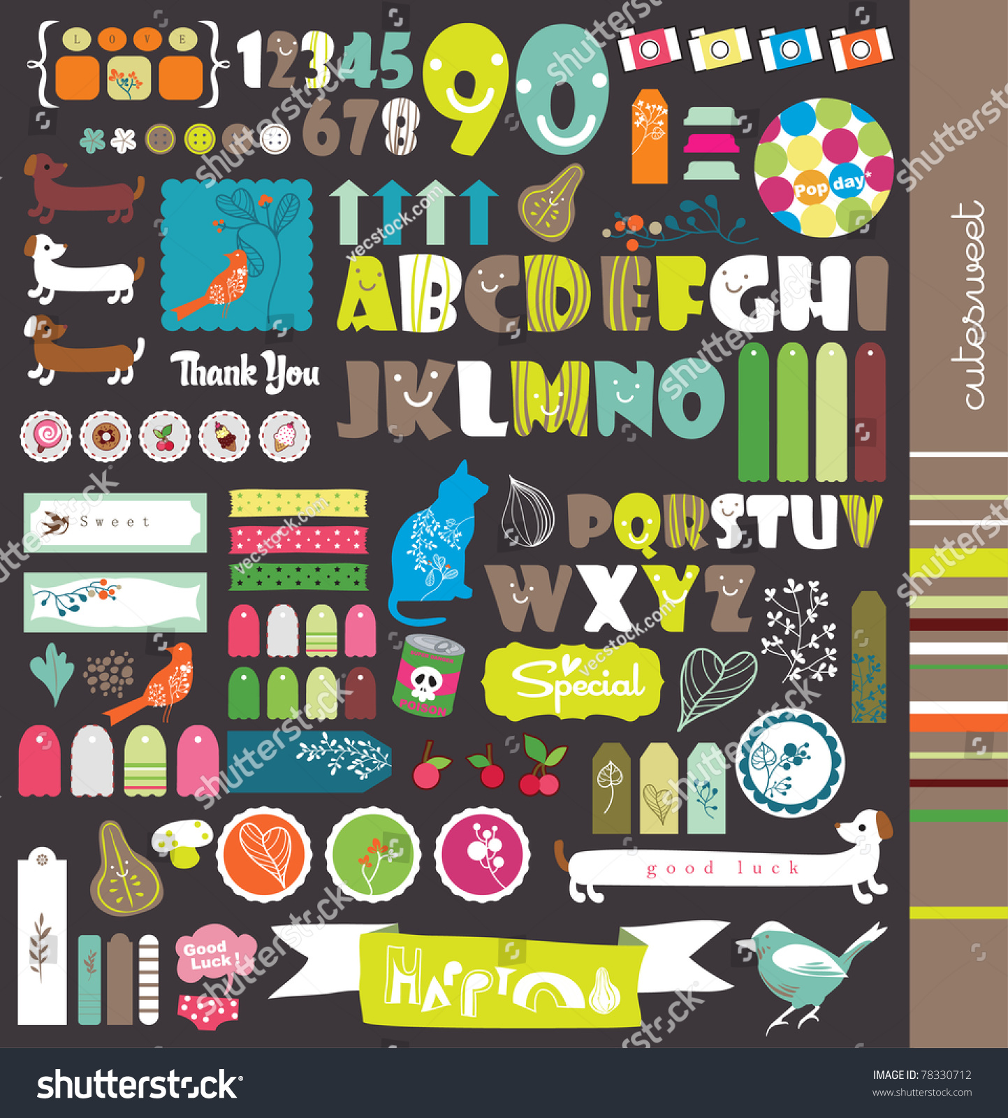 How to scrapbook letters - Scrapbook Elements With Letters