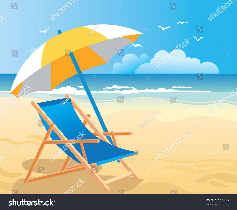 Beach chair and umbrella - Beach Chair Umbrella