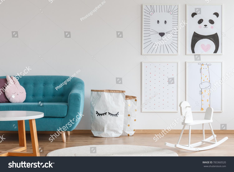 Verzauberkunst Sofa Scandi Foto Von Design Of Bright Kid Room With White