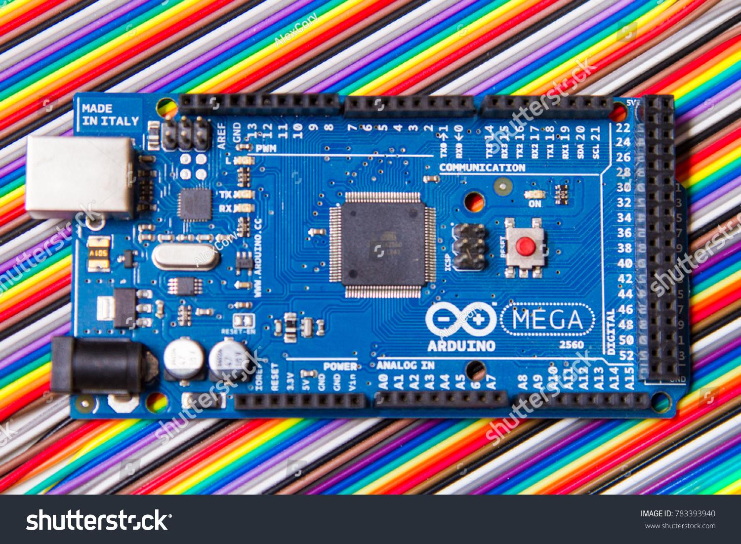 Buenos Aires Argentina 12 29 2017 Stock Photo Edit Now 783393940 Wiring Arduino Mega Board Over Jumper Wires