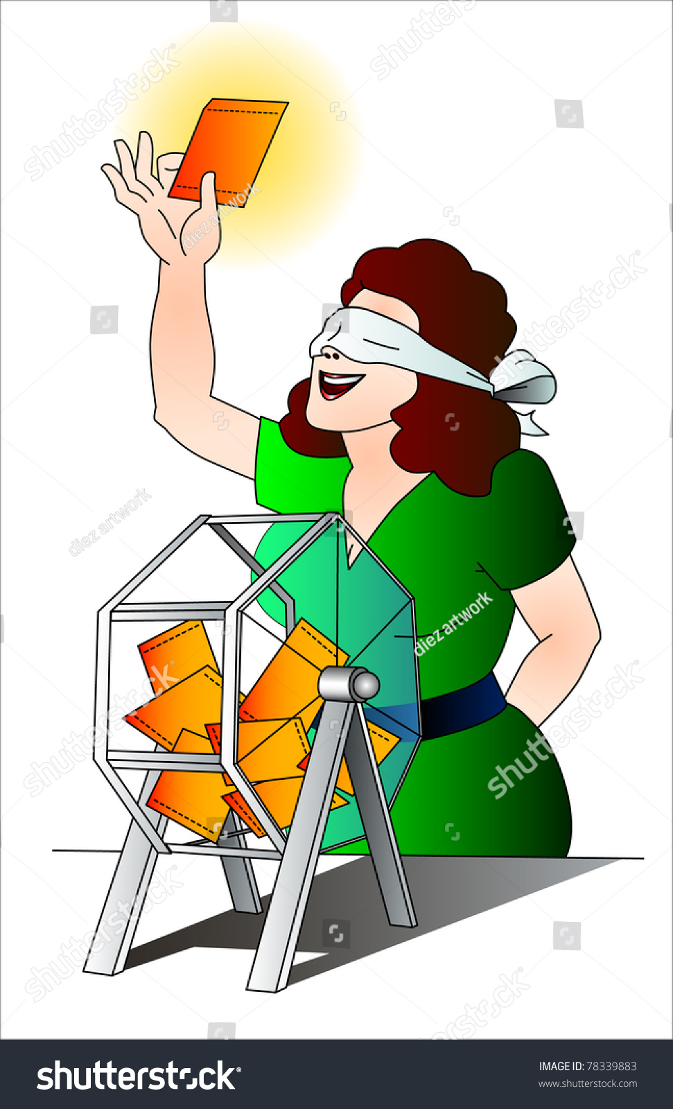 How To Have Good Luck tombola pick winner have good luck stock vector 78339883