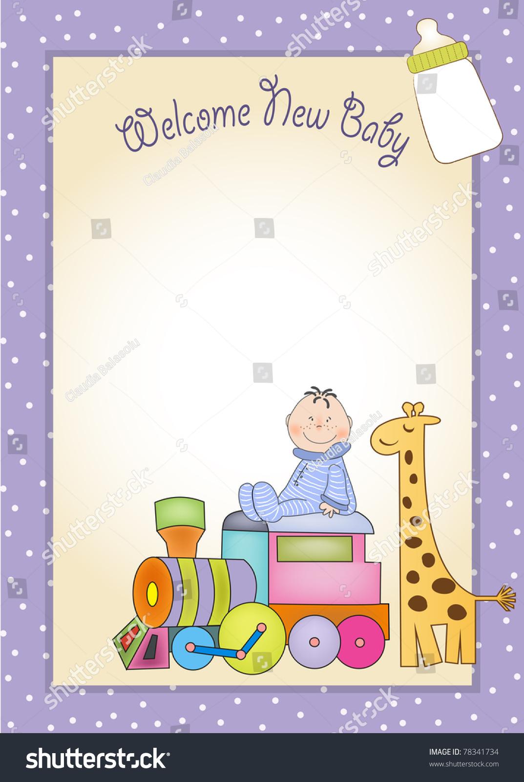 Customizable Birthday Greeting Card With Train