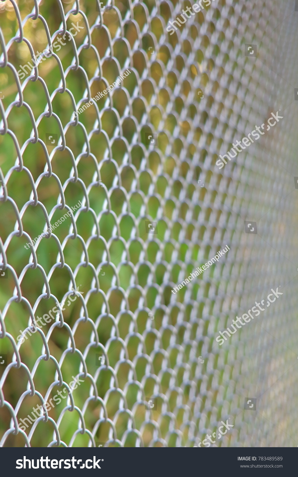 Chainlink Fencing Cyclone Fence Hurricane Fence Stock Photo (Safe to ...