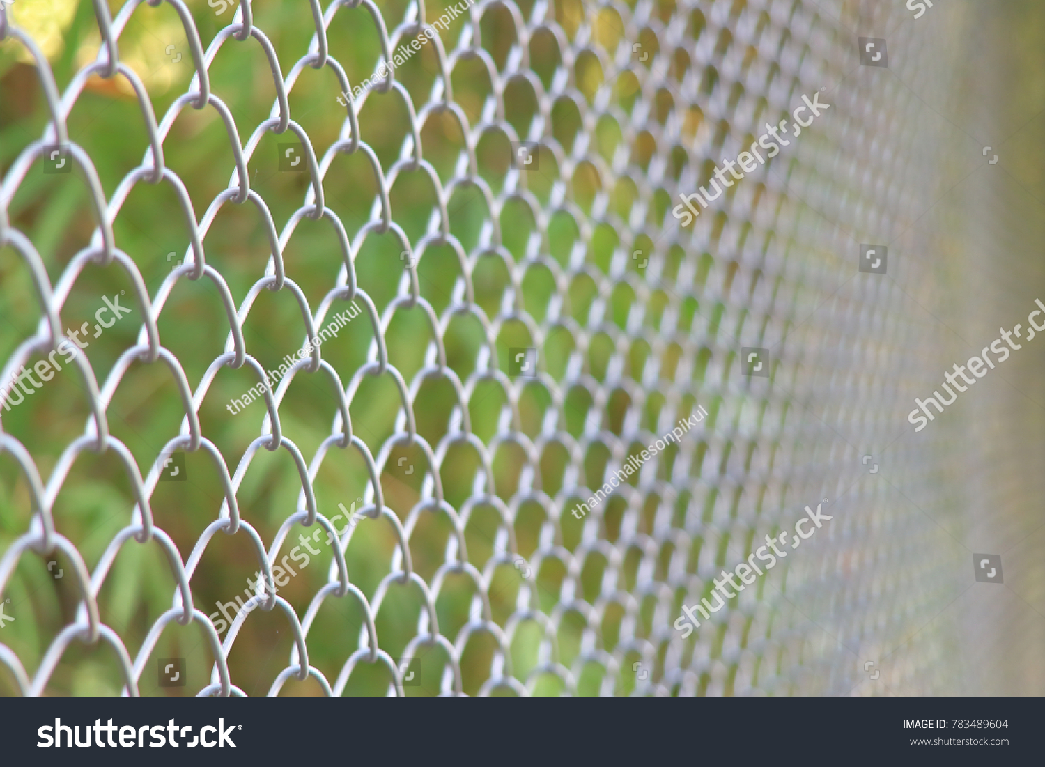 Chainlink Fencing Cyclone Fence Hurricane Fence Stock Photo (Royalty ...