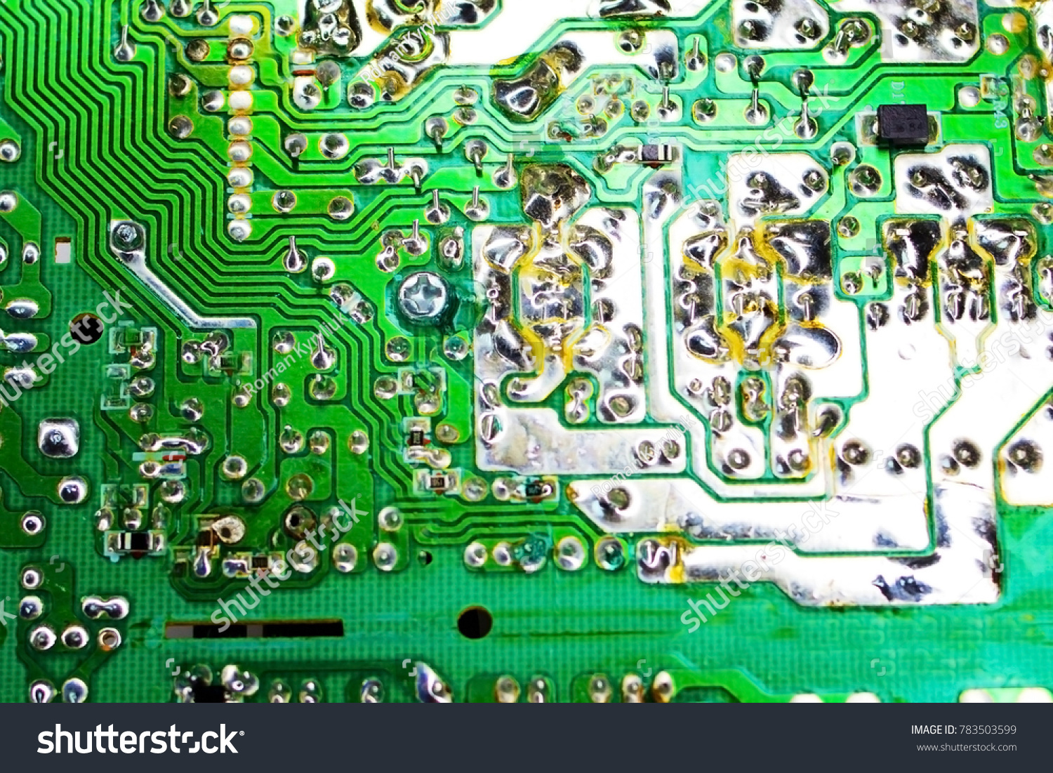 Circuit Board Electronic Components Old Technology Stock Photo Edit Green Computer With Electronics And Of The Past In